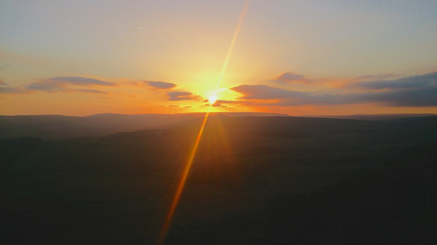 Sunset from Stanage, Peak District | Outdoor Adventure Motivational Speaking | Hetty Key | Mud, Chalk & Gears