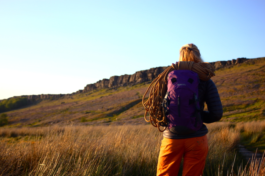 Climbing at Stanage in the Peak District   Outdoor Adventure Motivational Speaking   Hetty Key   Mud, Chalk & Gears